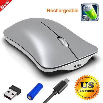 2.4GHz Mice Mouse Bluetooth Wireless Optical Rechargeable for Macbook PC Laptop