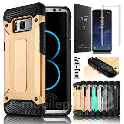 For Samsung Galaxy S8 Plus Shockproof Case with Tempered Glass Screen Protector