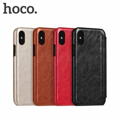 HOCO Flip PU Leather Phone Case Vintage Soft Protective Cover for iPhone X KN