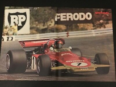 Formula 1 Gp Fitipaldi Ford - Vintage Poster From French Magazine Affiche - M9