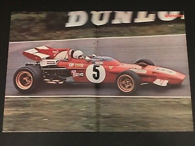 Formula 1 Ferrari Gp - Vintage Poster From French Magazine Affiche - M9
