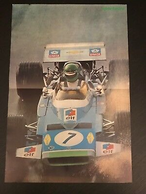 Matra Simca Formula 1 Gp - Vintage Poster From French Magazine Affiche - M9