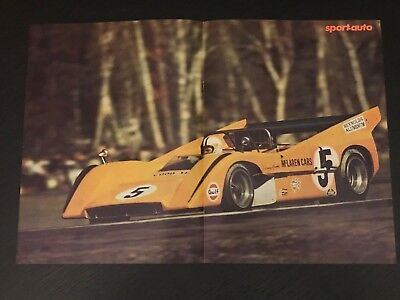 Mclaren Sport Cars Proto - Vintage Poster From French Magazine Affiche - M9