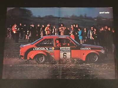 Ford Escort Lombard Rallye - Vintage Poster From French Magazine Affiche - M9