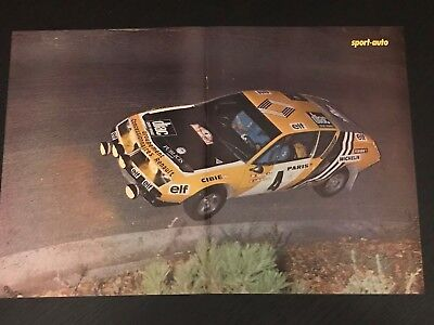 Renault Alpine A310 Rallye - Vintage Poster From French Magazine Affiche - M9