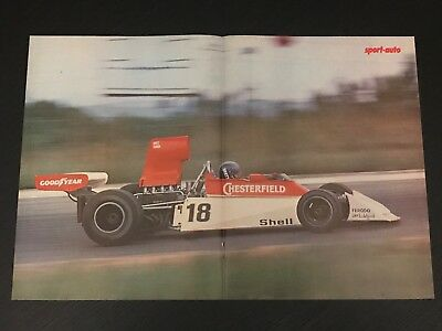 Surtees Ford Formula Lunger - Vintage Poster From French Magazine Affiche - M9