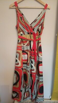 Used monsoon dress size 16 multi coloured silk mix party/wedding/races