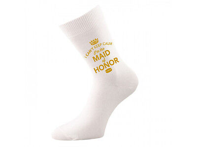 Maid of Honor Socks Wedding Keepsake Gift Hen Party Present Cold Feet Her Bride