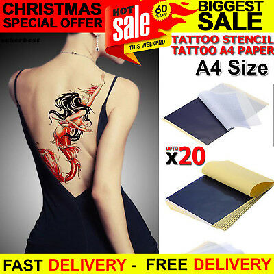 New Tattoo Stencil Transfer Paper Thermal Carbon Tracing Copier Kit Size A4