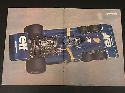 Formula 1 Tyrrell Depailler - Vintage Poster From French Magazine Affiche - M9