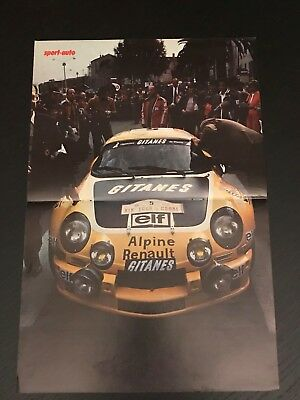Renault Alpine Ralye A110 - Vintage Poster From French Magazine Affiche - M9