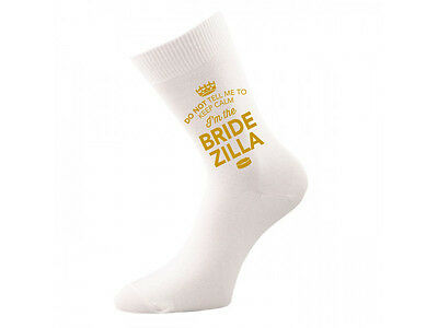 Bride Zilla Socks Wedding Keepsake Gift Hen Party Present Cold Feet Her