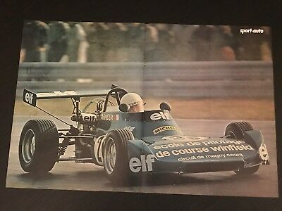 Formula Elf Arnoux Magny Cours- Vintage Poster From French Magazine Affiche - M9