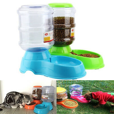 3.5L Large Automatic Pet Dog Cat Water Feeder Bowl Bottle Plastic Dispenser AU