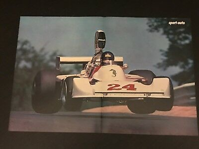 Formula 1 Hesketh Hunt Gp - Vintage Poster From French Magazine Affiche - M9