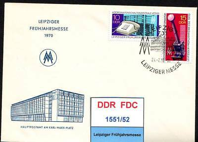 DDR, FDC 1551/52, 1553/56, gestempelt, s.scan