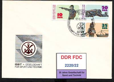 DDR, FDC 2220-2223 gestempelt, s.scan, top sale!!!