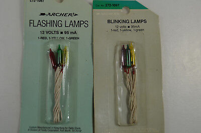 Archer Radio Shack 12v 95mA Flashing Bulbs - Two Packages - 272-1097