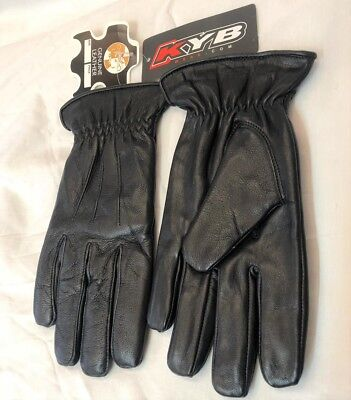 Mens 100% Genuine Real Leather Gloves Boys Driving Evening Winter Thermal Lined
