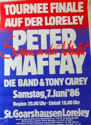 "Peter MAFFAY - Konzerplakat * Tourposter / ""Sonne in der Nacht"" 1986 Loreley"
