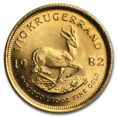Two 1/10 ounce Gold Krugerrands