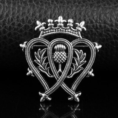 Silver-Plated Luckenbooth Scottish Thistle Pin