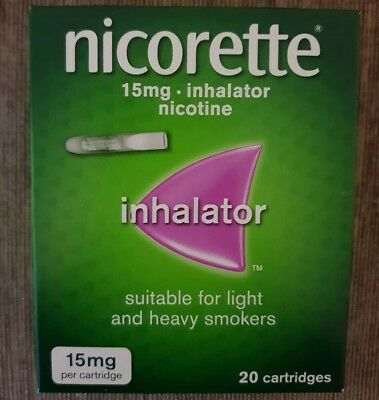 Nicorette inhalator 15 mg 20 cartridges