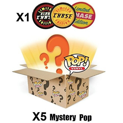 6 x Authentic FUNKO POP Figures Mystery + Limited Edition Chase Canada Seller