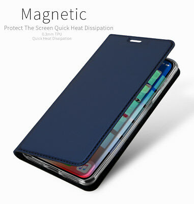 DD Luxury For iPhone XR XS Max X PU Leather Flip Case Wallet Magnetic Skin Cover