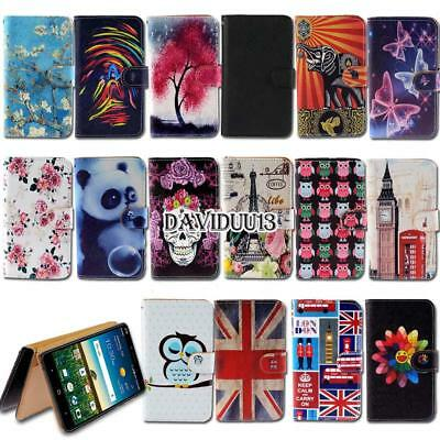 Leather Smart Stand Wallet Case Cover For Various ZTE Smartphones