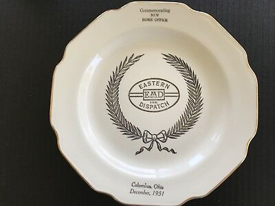 Columbus Ohio Eastern EMD Motor Dispatch Advertising Commerative Plate 1951 OH