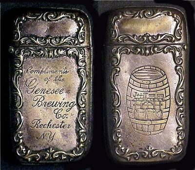 Rochester, NY - Genesee Brass Match Safe with Silver Plating #1B - Pre Pro era