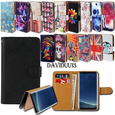 Leather Smart Stand Wallet Case Cover For Various Samsung Galaxy J7