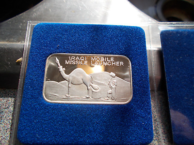 Iraqi Mobile Missile Launcher 1 Troy Oz .999 Fine Silver Art Bar Very Funny Gift