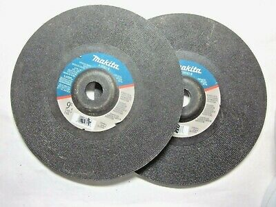 "Lot 2 Makita 9"" Inch X 1/4"" X 7/8"" 24-Grit General Purpose Metal Grinding Wheels"