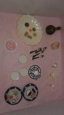 Lot of Miniature Doll House Accessories Food, Kitchen, Home, Dishes, etc
