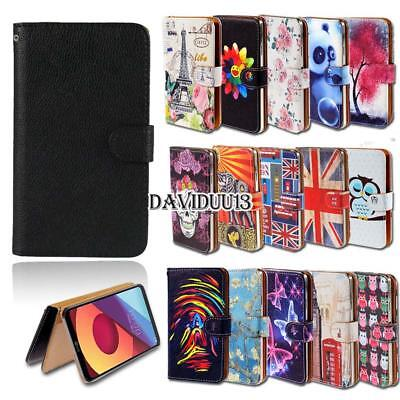 Leather Smart Stand Wallet Case Cover For Various LG SmartPhones