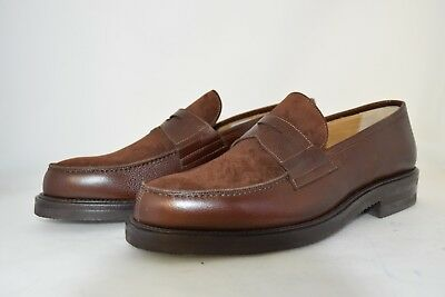 MAN-10eu-11us-PENNY LOAFER-MOCASSINO-BROWN CALF-VITELLO MARRONE-VIBRAM SOLE