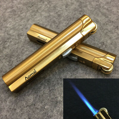 2 Pcs AOMAI Jet Torch Adjustable Lockable Flame Cigar Cigarette Lighter Gold