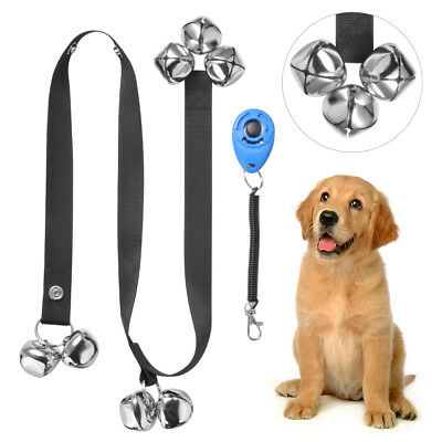 Adjustable Pet Dog Bells Potty Training Rope House Training with Clicker PS270