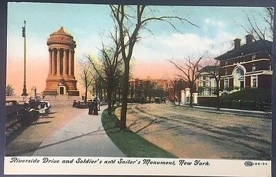 Vintage Postcard  Soldiers and Sailor's Monument  Riverside Drive New York C13