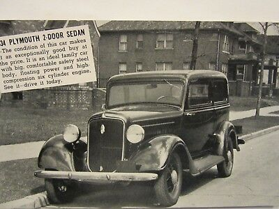 1934 PLYMOUTH 2-DOOR,  Bryan Packard Motor Co., car dealership, Wellington, KS