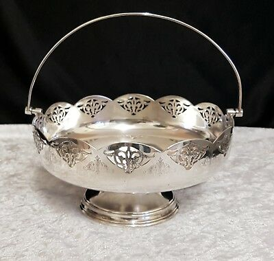 Silver plated pedestal fruit dish