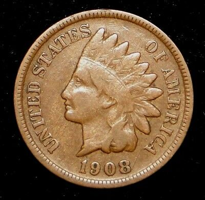 1908-S Indian Head Cent Old U.s. Type Coin