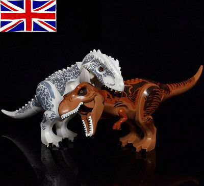 Jurassic Park World Dinosaur Figure Blocks T-Rex Rex Minifigures Toy Fit Lego UK