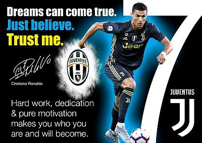 hot sale online f899e 6cdf2 RONALDO JUVENTUS POSTER #3 - Motivational quotes - A3 ...