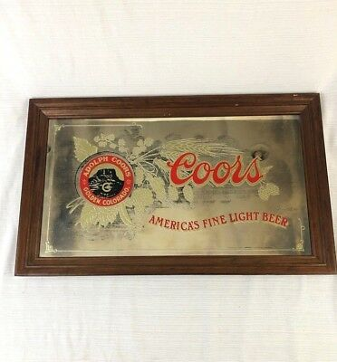 Coors America's Fine Light Mirrored Beer Sign