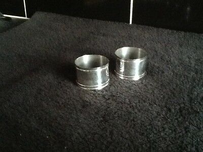 Nice Pair Antique Silverplate Napkin Rings No Reserve
