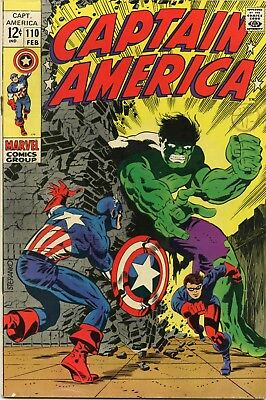 Captain America /  US Marvel Comic / No. 110 / Steranko