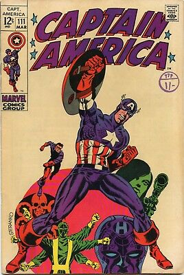 Captain America / US Marvel Comic / No.111 / Steranko